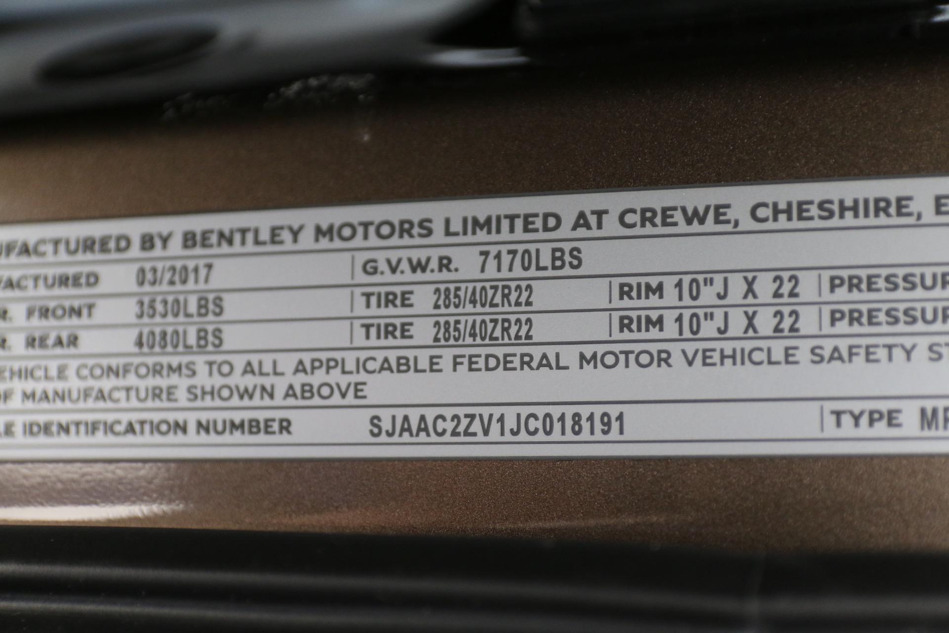 2018 bentley bentayga onyx. Beautiful Onyx New 2018 Bentley BENTAYGA W12 ONYX  Vienna VA In Bentley Bentayga Onyx