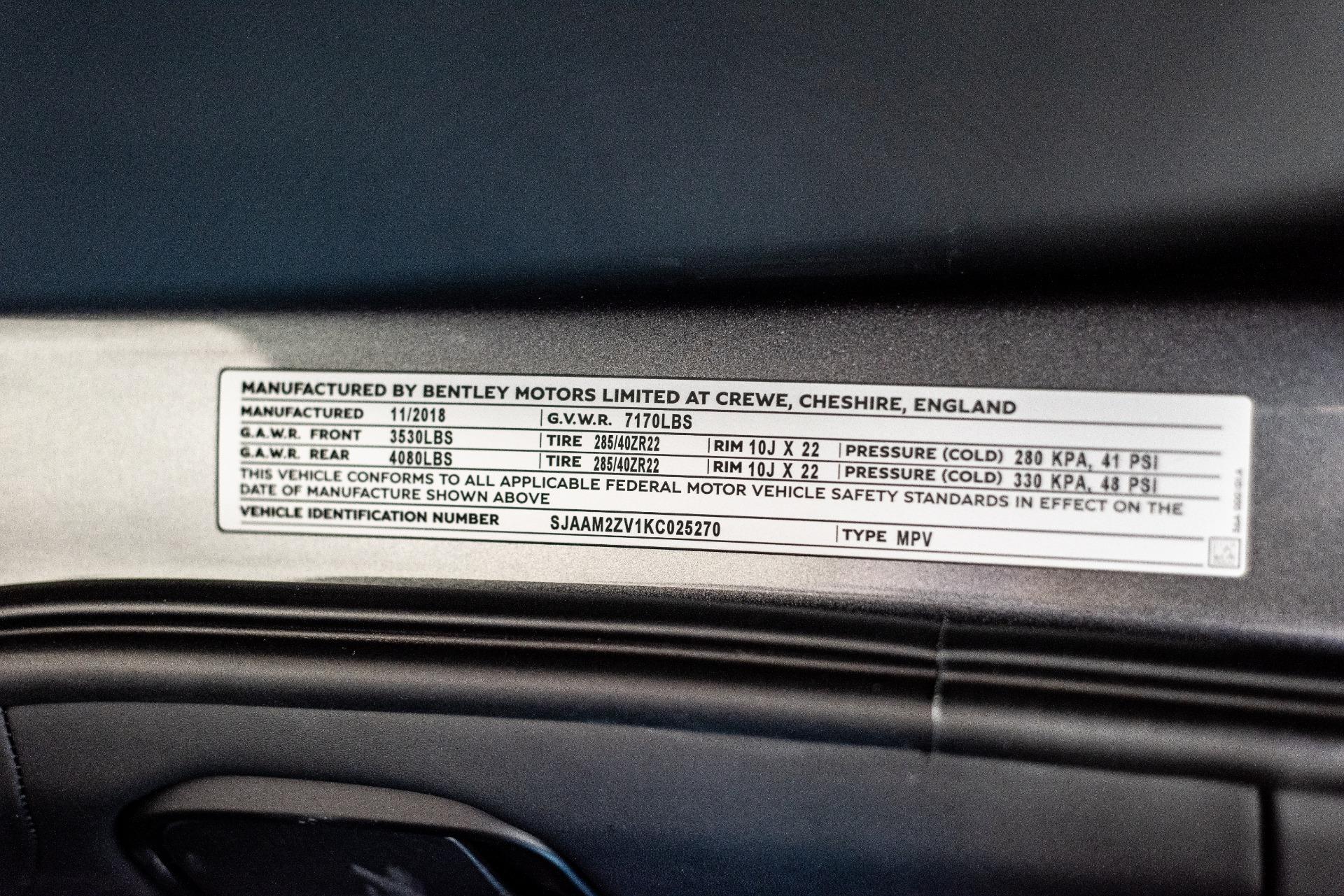 Used-2019-Bentley-BENTAYGA-Mulliner